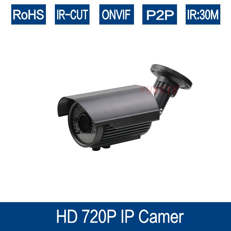 YUNSYE CCTV HD 720P IP 1.0MP Camera IR cut 42 LED IR 30M Night Vision Outdoor Security Camera free shipping<br>