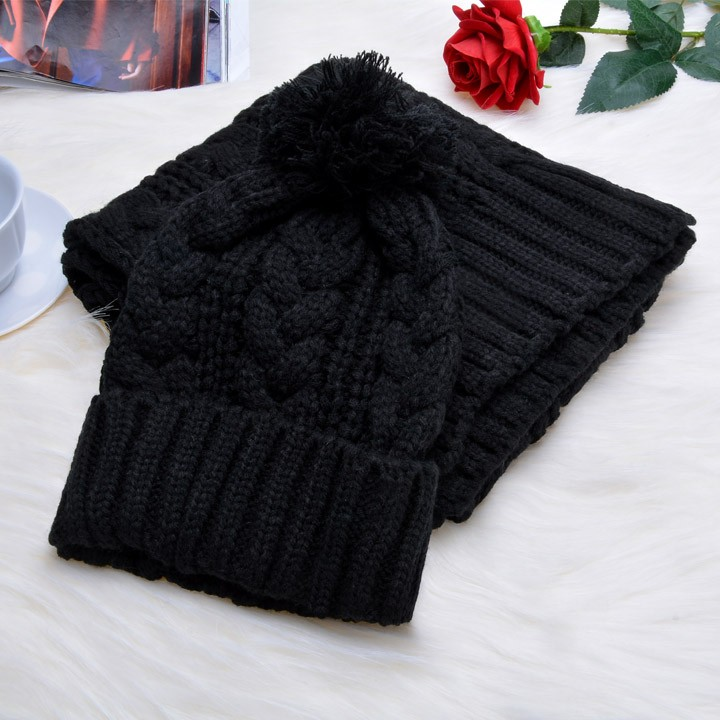 2014 New Fashion Knitted Beanies Casual Winter Hat Scarf Women Wool Cap Women Hat Scarf 4 Colors Free Shipping 51Одежда и ак�е��уары<br><br><br>Aliexpress