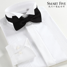 Free shipping new arrival men spring shirt swallow white formal dress shirt male long-sleeve slim(China)