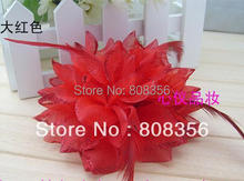 20Pcs/lot Bride Bridesmaids Wrist Flowers Corsage Feather Decoration Bridal Headdress Dress with Flower Girl's Gift(China)
