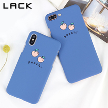 Buy LACK Hard PC Matte Phone Case iphone X Case iphone 7 6 6S 8 Plus Cover Fashion Lovely Cartoon Fruit Peach Painted Cases for $1.73 in AliExpress store