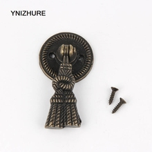 10pcs 47*30mm Antique Pendant Handle Vintage Bronze Furniture Hardware Drawer Pull closet Kitchen Cupboard(China)