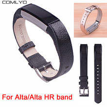 New High Quality Replacement Wrist Band For Fitbit Alta /alta hr Band bracelet fitness tracker banda bandje Genuine Leather(China)