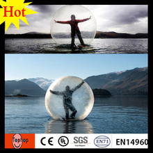 dia 1.5/1.8/2/2.5m 1.0mm TPU inflatable water walking ball for water park(China)