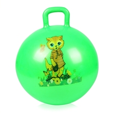 45cm Children Inflatable Bouncing Kids Ball PVC Cartoon Animal Handle Educational Outdoor Indoor Sport Toy Baby Ball Toys(China)