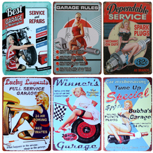 New Beauty Best Garage Service Vintage Metal Signs Home Decor Vintage Tin Signs Pub Vintage Decorative Plates Metal Wall Art(China)