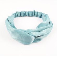2 Pieces/lot Solid Cross Silk Headband For Women High Quality Twisted Turban Hair Accessories Headwear Hairband