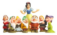 8pcs/lot 4.5cm cartoon 3D PVC seven Dwarfs Snow White Action Figures Toys Set for Children's Christmas Gifts(China)