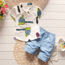BibiCola Infant Baby Summer Clothing Sets Boys Tops T-shirt+Pant Kids Summer Outfits Set Toddler Tracksuit Baby ooys Clothes(China)