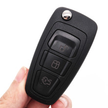 Hot!HKCYSEA Brand New Folding Flip Remote Key 3 Button For FORD Focus 433MHZ WITH 4D63 Chip HU101 Blade