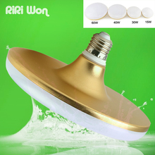 UFO E27 LED Bulb Light 40w 23w 13w 8w Aluminum LED Lamp E27 220v 230v 240v SMD 5730 Flat High Power LED Light Bulb(China)