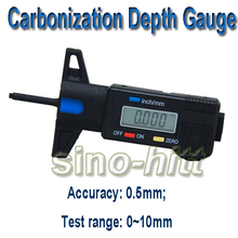 JW-STH Digital Carbonization Depth Gauge Meter When Testing The Strength of Concrete by Test Hammer(China)