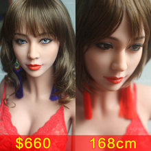 168cm Top Quality Sex Doll Japanese Love Doll with Real Silicone with Metal Skeleton Lifelike Masturbator Vagina Sex Doll(China)