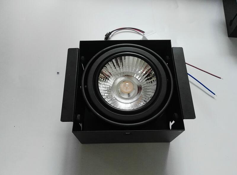 Square LED COB Downlight 15W AR111 COB LED Recessed Ceiling Down light LED COB LED Spot Light Dimmable 10pcs/lot<br>