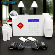 HOMSECUR APP Controlled Wireless GSM RFID Home Security Alarm System+Real-time Monitoring and Interaction(China)