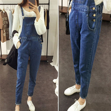 New Womens Bodycon Jumpsuit Jeans Rompers Bodysuit Bib Overalls Trousers Girls Casual Denim Pants Skinny Suspenders