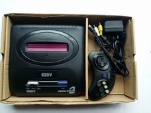 Hight quality 16bit SEGA Genesis/MD compact mini classic edition TV game console with 64P cartridge solt with 10in1 funny games