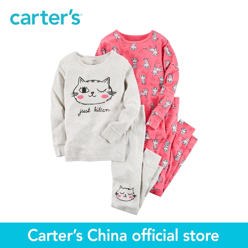 Carters 4pcs baby children kids 4-Piece Snug Fit Cotton PJs 331G358,sold by Carters China official store<br>