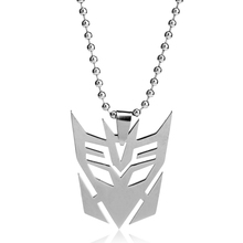dongsheng Movie Transformer Silver Plated Pendant Hinge Necklace Charm Bead Chain Jewelry Men Gifts -30