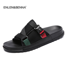 Nieuwe 2017 Zomer EVA Massage Mode Sandalen Heren Slippers Casual Patch Ademend Mannen Sandalias Hombre Strand Slippers Voor Man(China)