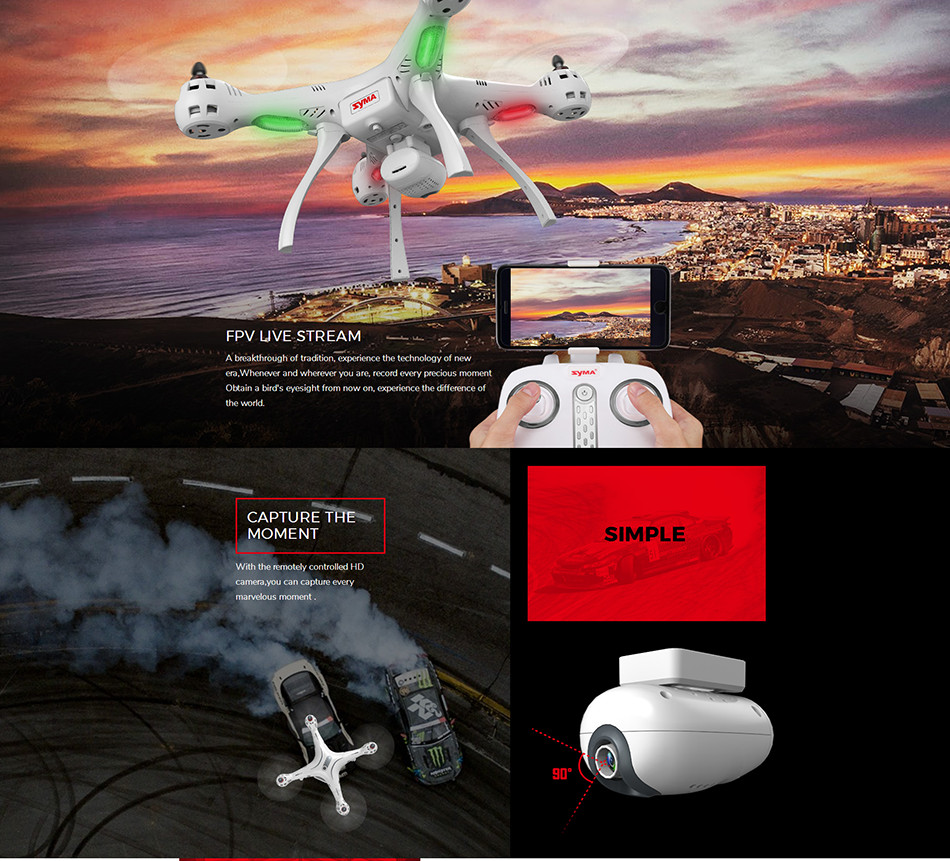 Newest SYMA X8PRO GPS DRONE RC Quadcopter With Wifi Camera FPV Professional Quadrocopter X8 Pro RC Helicopter can Add 4K Camera 5