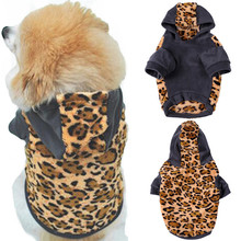 Buy Dogs Warm Hooded Sweatshirt Leopard Print Pets Puppy Thermal Coat Pets Animals Jackets dog clothes small dogs for $6.99 in AliExpress store
