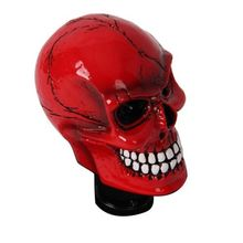 Free shipping 2014 New Universal Manual Transmission Car Gear Shifter Knob Lever Cover Resin Skull Head Red