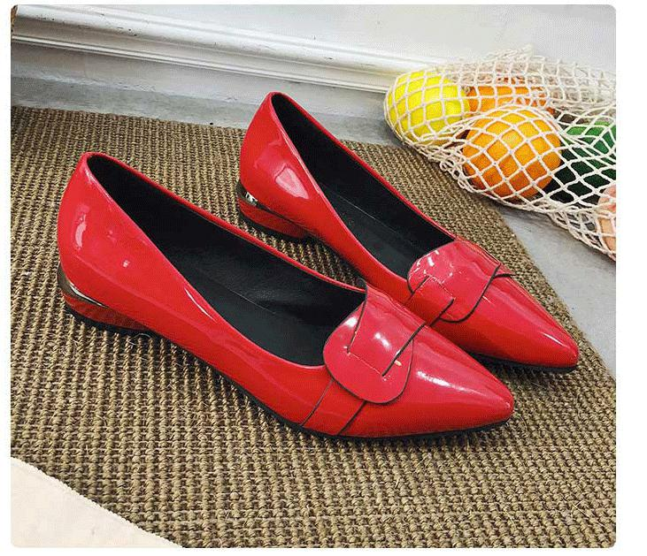 The Spring 2018 New Shallow Mouth Thick Shoes Work Occupation Lady Shoes 5