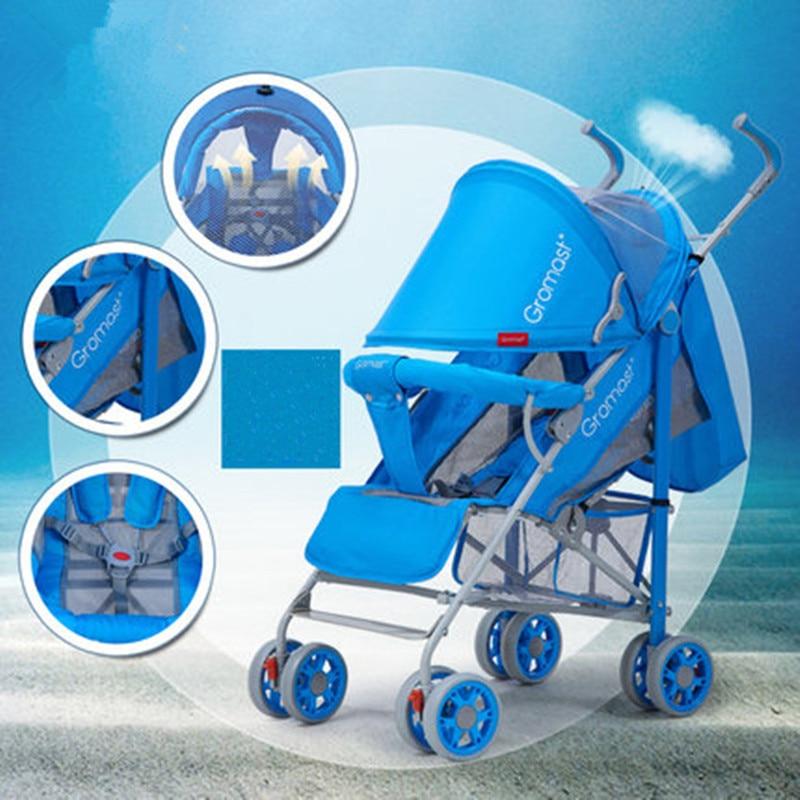 Gromast baby trolley super portable folding  four round BB umbrella cart<br><br>Aliexpress