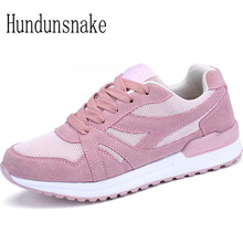 Hundunsnake Women Sneakers Running Ladies Sport Shoes Breathable Female Krasovki Platform Gumshoe Basket Femme 2017 Trainer T174