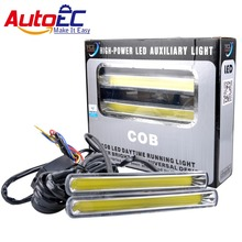 2pcs High Power Car Daytime running light DC12V 24V 6000K New Styling Decoration white for 4x4 accessories off road #LM134(China)