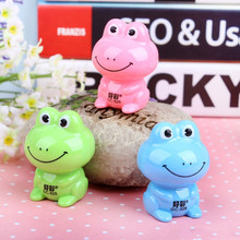 2017 Top Brand New Arrival 12pcs Mechanical Pencil Sharpener Frog Design Cutter knife for Kids Gift School Supplies