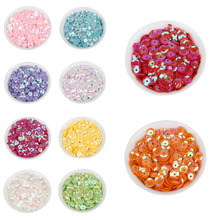 1200pcs 6mm Round PVC Loose Sequins AB Color Glitter Sequins For Paillettes Crafts Sewing Decoration DIY Accessories(China)