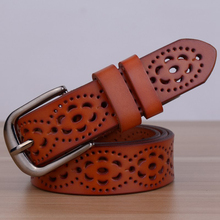 New Arrival Genuine Leather women belt famale cowhide strap leather waistband belts for women luxury lady cintos ceinture(China)