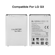 ONES BL-53YH Real 3000 mAh new 0 Cycle mobile phone battery Replacement for LG G3 Battery replace F400 F460 D858 D830 VS985