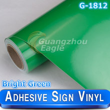 Superior Cutting Plotter Sign Vinyl Printer 1.06*33 m Glossy Bright Green Plotter Paper Free Shipping