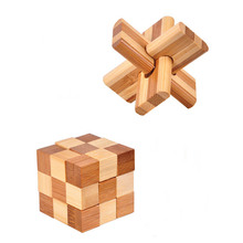 Chinese Traditional Toys Kong Ming Luban Lock 3D Handmade Wooden Toy Adults Puzzle Brain Teaser Game for Early Education(China)