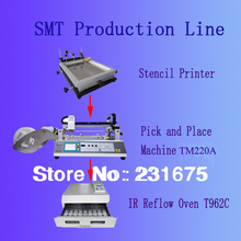 SMT Machine,pick and place machine TM220A,Reflow Oven T-962C,Solder Printer,the manufacturer,small Production line