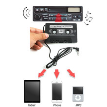 Del 3.5mm AUX Car Audio Cassette Tape Adapter Transmitters for MP3 IPod td1011 dropship