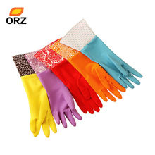 Waterproof Household Gloves Kitchen Cleaning Accessories Dishwashing Water Dust Stop Cleaning Rubber Gloves