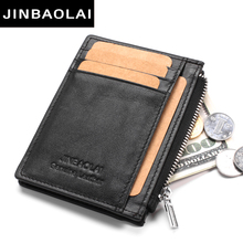 High Quality Genuine Leather Women Mini Wallet Short Money Wallets Cow Leather Lady Zipper Coin Pocket Purses Female Fashion bag(China)