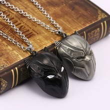 Wholesale 10PCS Movie jewelry Black Panther Necklace Cosplay Pendant for Boy Girl Men Women with non-fade alloy chain HF11978