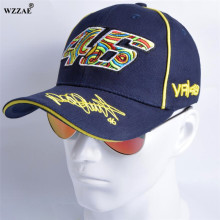 WZZAE New Snapback Caps Wholesale Rossi 46 Embroidery Baseball Cap Hat Motorcycle Racing Cap VR46 Brand Baseball Cap For Men