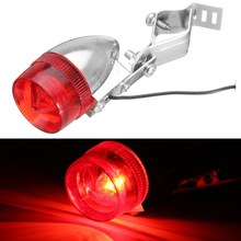 Classic Retro Bicycle Bike Rear LED Indicator Red Light Cable Holder Bracket ATV Car Taillight Lamp