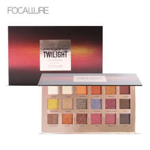 FOCALLURE 18Pcs Highly Pigmented Glitter Eye Shadow Flash Shimmer Eyeshadow with Matte Colors Easy to Wear Eye Daily Makeup(China)