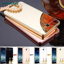 Fashion Luxury Rose Gold Silver Black Beauty Frame Mirror Case For ZTE Blade A510 A 510 Shell Back Cover Housing New