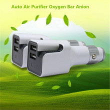 Dual USB Mini Car Air Purifier Car Charger Air Purifier Negative Ion Ionizer Oxygen Generator Cleaner DC 12V(China)