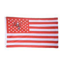 1pc Tampa Bay Buccaneers USA Stars and Stripes Banner Team Flag American Tampa Bay Buccaneers Flag Banner Size 90*150cm/3*5 FT(China)