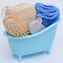 Bathroom bathing suit Pet Min bathtub+Pumice stone+Sponge+Wood airbag comb+Dry hair towel Bathroom Accessories Sets SY17D5