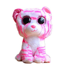 Ty Beanie Boos Original Big Eyes Plush Toy Doll 10 - 15cm Pink Leopard TY Baby For Kids Brithday Gifts